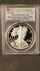 2016 W Pcgs 1pr70dcam 30th Anniversary Lettered Edge Limited Edition