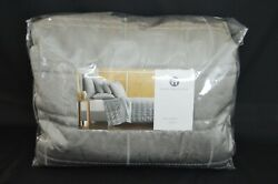 Hotel Collection Muse Quilted King Coverlet Silver Grey Metallic