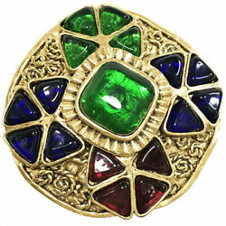 Chanel brooch pin brooch color stone 94A Auth vintage Old antique 6184