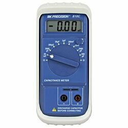 Accurate Compact Capacitance Meter W/ Direct Plug In Test Sockets And Lead Jacks