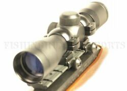 4x30 Compact Size Rifle Scope With Free Mount And Rings For Ruger 10/22 Rifles