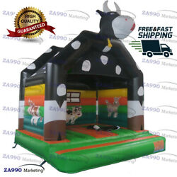 13x13ft Inflatable Big Cow Castle Bouncy House Jumper With Air Blower
