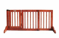 Simply Plus Deluxe Wooden Pet Gate Freestanding Pet Dog Gate For Indoor Home