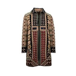 NWT VALENTINO Tan Beaded Wool Blend Embellished Coat Size 4838 $25060