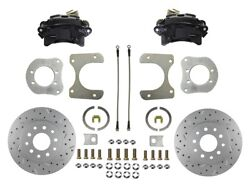 Jeep Rear Disc Brake Conversion Kit With Black Calipers And Maxgrip Xds Rotors