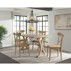 Picket House Furnishings Keaton Folding Top 5pc Dining Set-table And Four Chairs
