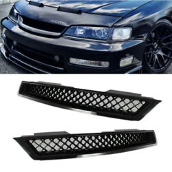 Fit Honda Accord 1994-1997 Abs Black Type-r Front Hood Bumper Mesh Grille Grill