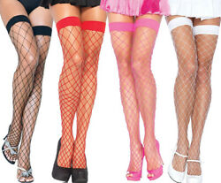 Leg Avenue Sexy Fence Net/fishnet Thigh High Stockings One Size