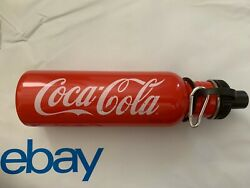 Coca Cola COKE Red Stainless Steel Water Bottle Bicycle Sports Collectible