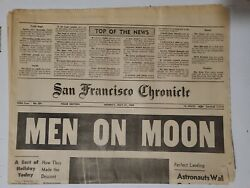 San Francisco Chronicle - Man Walks On the Moon July 21 1969 Complete Newspaper