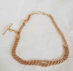 Antique 15ct Yellow Gold Oval Link Albert / Watch Chain. Circa 1905