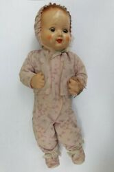 Antique Rare Germany Celluloid Wind-up Dancing Baby Doll Toy Blue Eyes