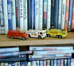 Lot Of 3 Rare Collectible Hot Wheels Fire Engines Trucks. 1976 1979 2002