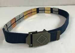 The Cub Scout Boyand039s Blue Belt With 11 Badges Size Adjustable