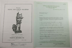 1929 Lamson Goodnow General Machinery Corp Boston Catalog Marburg Ephemera P993B
