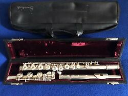 Just Serviced Gemeinhardt Sy51 All Sterling Silver Flute Vintage And Case / Cover