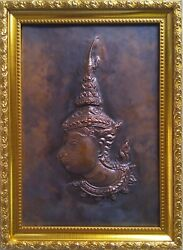 Thailand Handmade Craft Copper Plate Carving, Collectible And Gifts,free Shipping.