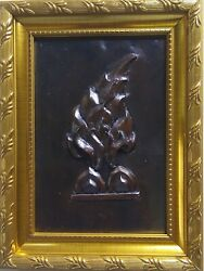 Thailand Handmade Craft Copper Plate Carving Collectible And Giftsfree Shipping