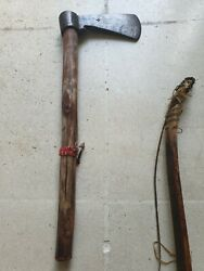 Very Rare Antique Massive Sioux Tomahawk 18th To 19th Century - Indian Wars