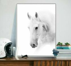 Living Room Wall Canvas Posters Modern Decor Paintings Horse Lovely Art Designs