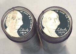 2019-s-40- Pieces-. Jefferson Head Nickels From 10 Coin Silver Proof Set