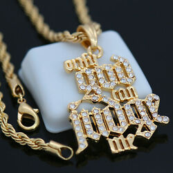 Hip Hop Only God Can Judge Me Pendant And 4mm 24 Rope Chain Necklace