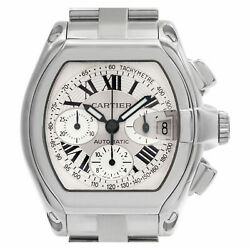 Cartier Roadster w62006x6 Stainless Steel White dial 38mm Automatic watch