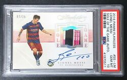 2016 Panini Flawless Sole of the Game Lionel Messi AUTO SHOE PATCH 0825 PSA 10