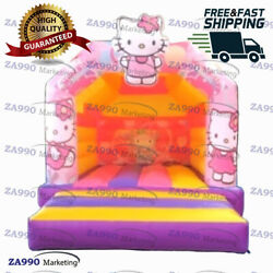 13x10ft Commercial Inflatable Hello Kitty Bounce House Castle With Air Blower
