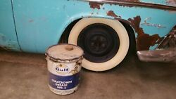 Gulf Vtg Oil Can Gulfcrown Grease No.2 Large Tin W Handle And Lid Rare
