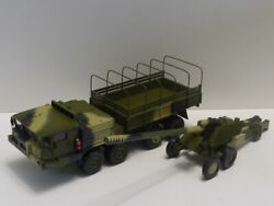 Ussr Soviet Russian Army Truck Baz-69531 And Cannon Giatsint 1/43 Scale