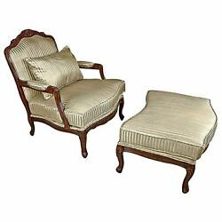 Design Toscano Rue Saint-Honore Bergere Chair and Ottoman 32