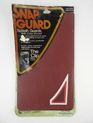 Pair Nos Vintage Rubber Mud Flaps Splash Guards Maroon W/ Red White Triangles