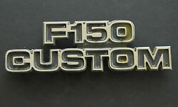 70and039s Oem Metal Ford F150 Custom Badge Emblem Logo Good Condition Ships Now