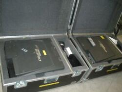 Lot Of 2 Christie Lx66 Lcd Projectors With 12 Short Throw Lens And Road Cases