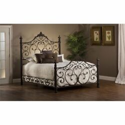 Hillsdale Baremore Queen Poster Bed In Antique Brown