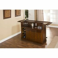Hillsdale Classic Home Bar in Brown Cherry