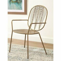 Coaster Geometric Metal Accent Chair in Gold