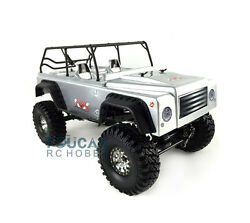 Full Metal Chassis 44 Kyx Scale Rc Rock Crawler Cnc Scx10 Car Shell Kit Silver