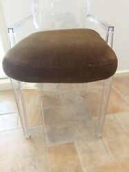 Antique French Mohair Cushion Replacement For Original Leather Club Chair