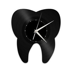 Tooth Dental Vinyl Wall Clock Record Unique Design Home and Room Decoration