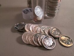 25 1962 Roosevelt Proof Dimes Part Roll 25 Coins