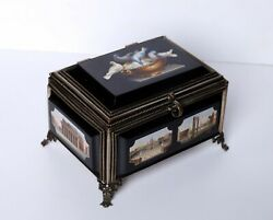 Antique Micro Mosaic Box Very High Quality
