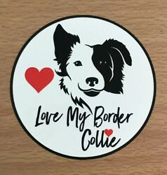 Border Collie Sticker Dogs Collies I Love Border Collies Herders Puppies