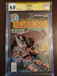 Warlord # 22 Rare DC Whitman Cover Variant  CGC Signature 6.0  CBG 831