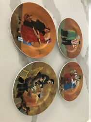 Guy Buffet 4 Piece Salad Plate Set Porcelain Collectible Gift