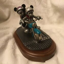 Disney Chilmark Mickey Minnie Mouse Head Out On Highway Fine Pewter Figurines