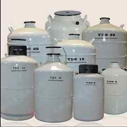 50l Liquid Nitrogen Ln2 Storage Tank Static Cryogenic Container With Sleeve T