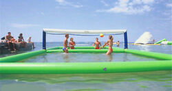 105m Outdoor Inflatable Volleyball Court For Water//beach Game With Air Pump T