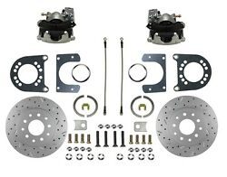 Rear Disc Brake Conversion Kit Ford 8in And 9in Small Bearing With X Drill Rotor